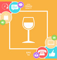 wineglass symbol vector image
