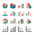 Graph chart Business and financial Icons set vector image vector image