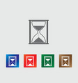 Hourglass icon vector image