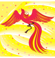 Graceful Firebird on abstract background vector image vector image