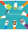 Team Work Flat Concept vector image vector image