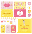 Scrapbook Design Elements - Cute Balerina Set vector image