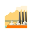 Industrial Building With Three Chimneys vector image