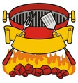 Barbeque grill vector image