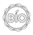 Bio label icon in outline style isolated on white vector image