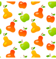 Bright seamless pattern of mellow fruits vector image