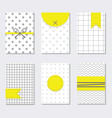 cute assorted gray and white trendy patterns set vector image