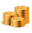 Euro Golden Coins Stacks vector image