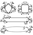 frames with floral pattern vector image