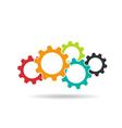 Gears logo Concept of Teamwork vector image
