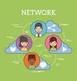 network people scenary vector image