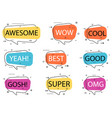 trendy speech bubble isolated set vector image