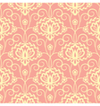 yellow pink floral seamless pattern vector image