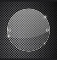 transparent round glass plate on metal perforated vector image