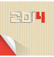 Happy New Year 2014 Cardboard Background vector image