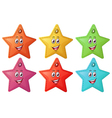 Smiling stars vector image vector image