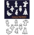 Cartoon Halloween ghosts vector image