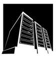 data center black vector image