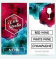 Menu cards for Wine Studio vector image