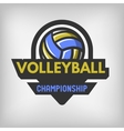 Volleyball sports logo vector image vector image