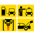 icons for car service vector image vector image