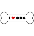 Dog Bone With Text vector image vector image