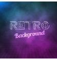 Retro Neon Background 1980 Neon Poster Retro vector image