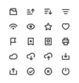 Basic UI Outline Icon Set Vol 2 vector image