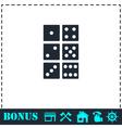 Dice icon flat vector image