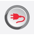 Electric plug icon Power energy symbol Red flat vector image