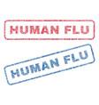 human flu textile stamps vector image
