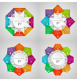 Infographic circles set vector image