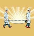nurses doctors medical stretcher vector image