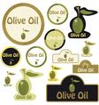 olive oil - label vector image