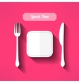 plate fork and knife made in moder flat vector image