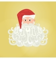 Santa Claus icon with curly beard isolated on vector image