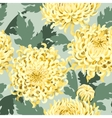 Seamless japanese chrysanthemum vector image