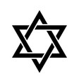 the star of david or the shield of david vector image