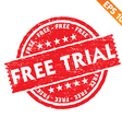 Stamp sticker Free trial collection - - EPS vector image