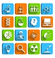Science Laboratory Icons Set vector image vector image