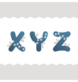 Set of cat letters vector image