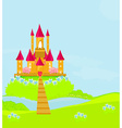 brown princess castle on the river vector image vector image
