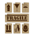 fragile stickers vector image
