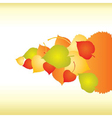abstract backgrounds with fall leafs vector image