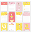 Cute Balerina Tag and Labels Set - for baby vector image