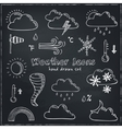 Set of doodle sketch weather icons vector image