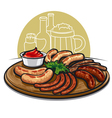 sausages grilled vector image vector image