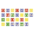 Children cubes alphabet vector image