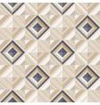 Fashion geometrical pattern with diamonds vector image
