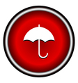 umbrella red modern web design circle icon vector image